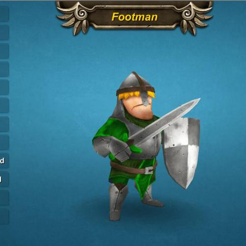 Footman 手游超赞 打斗模型Footman with Sword Shield v1.0