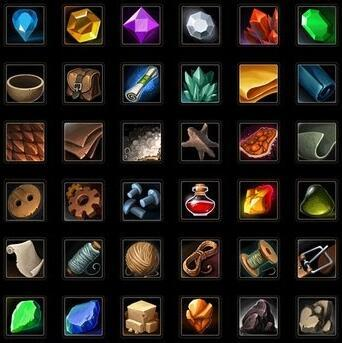 unity游戏物品道具小图标UI素材321个 Resources and Craft Icon Pack 1.03