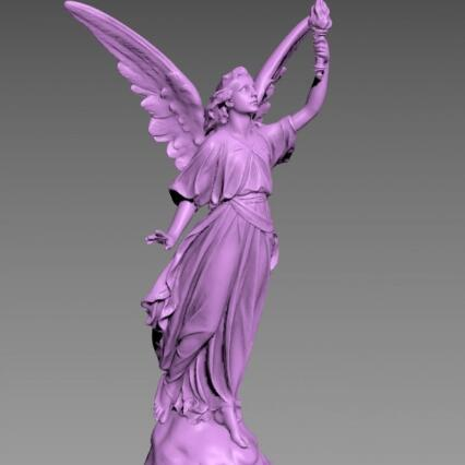 欧美天使神话人物雕像石雕CG模型,含obj/3dmax/fbx等3d模型格式!Angel Lucy Sculpture